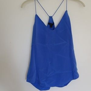 J.Crew Carrie Silk Camisole Blue Size 0 NWT